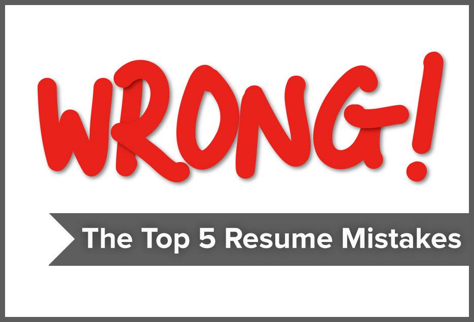 Resumonk Avoid the top 5 resume mistakes