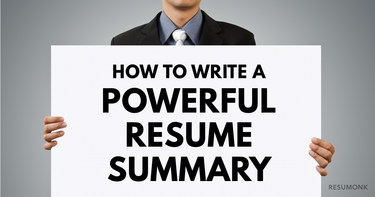 How to Write a Powerful Resume Summary (10 Best Examples) - Resumonk