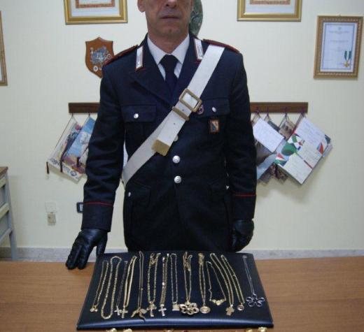 I Carabinieri sequestrano 600 grammi di oro e denunciano due persone
