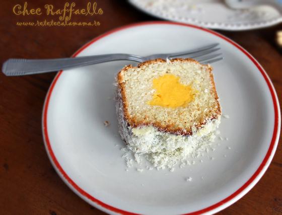 Preparare Chec Raffaello cu cocos si crema de vanilie 10