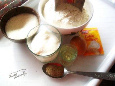 ingrediente spirale cu mere si stafide