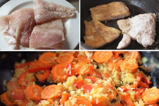 preparare peste cu legume la cuptor 1