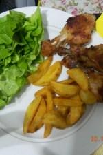 Pulpe si aripioare de pui in crusta crocanta, fried chicken by aryana