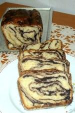 Cozonac cu ciocolata, marmorat by cameliailea
