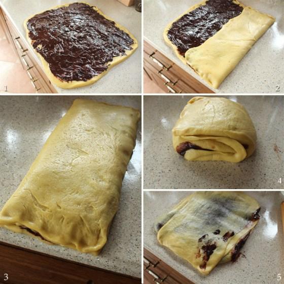 asamblare cozonac cu ciocolata