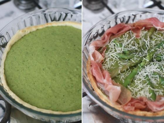 preparare tarta cu sparanghel