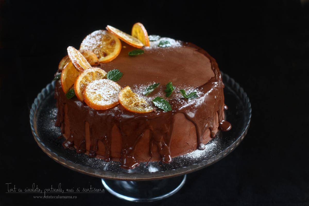tort cu ciocolata nestle, portocale, nuci, scortisoara si vin rosu-1