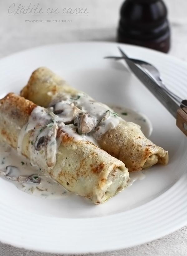 reteta clatite cu carne-aperitiv retetecalamama