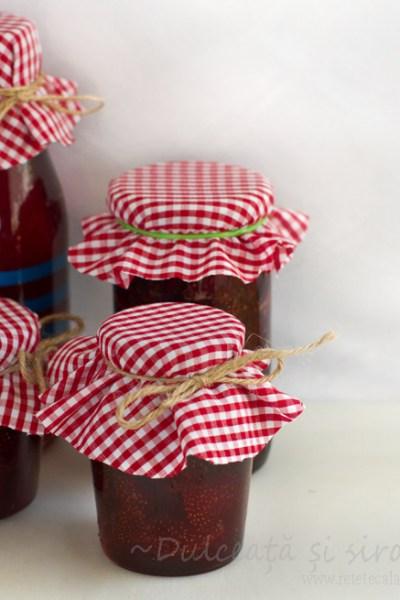 dulceata de capsuni + sirop de capsuni reteta retetecalamamaro