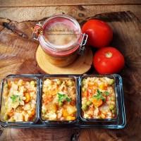 Tocana de legume cu orez pentru iarna (ghiveci)