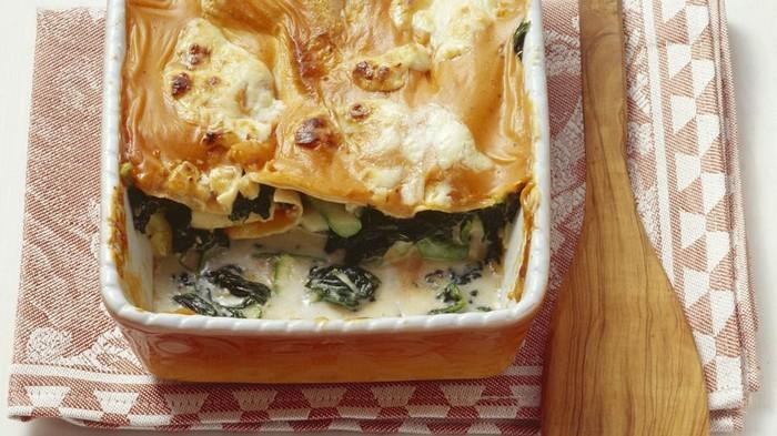 Lasagna cu legume si rucola