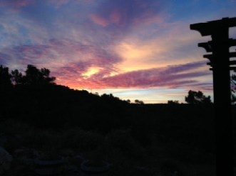 Sunrise from Joanna's front deck.