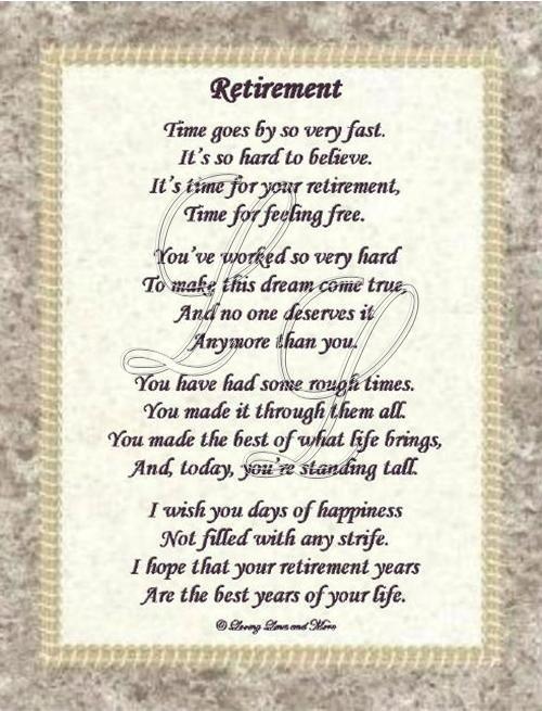 Best 25+ Retirement poems ideas on Pinterest DIY retirement - retirement letter