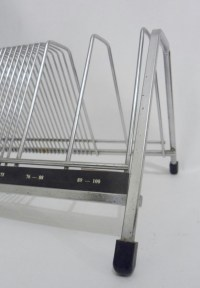 Vintage Retro Chrome Plate Wirework Vinyl Record Rack