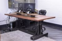 Industrial Computer Desk. Small Industrial Desk Plans ...