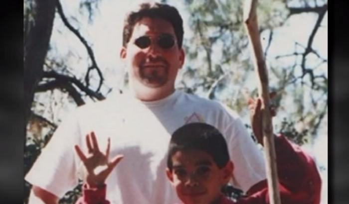 Young Robin Barton with his father