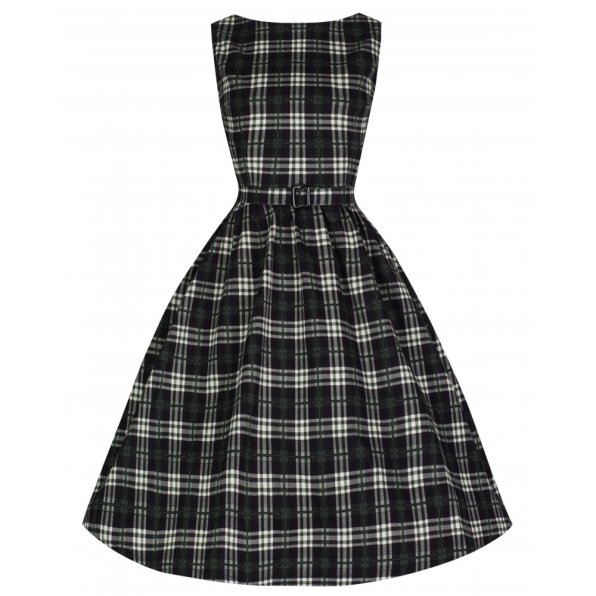 Audrey Check Swing Dress BUY