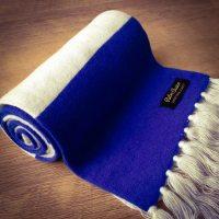 Kilmarnock Luxury Merino Wool Striped Football Scarf