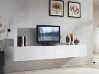 2.4m Majeston White Floating TV Cabinet