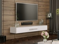 White Expressia Wall Mounted TV Cabinet