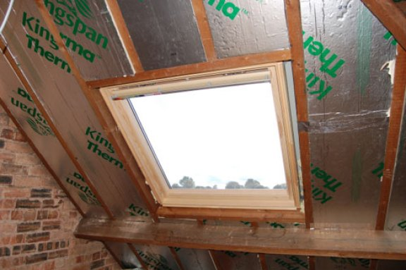 Large Velux roof window.