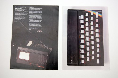 Sinclair Pocket TV and ZX Spectrum brochures