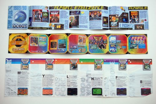 Ocean, US Gold and Spectravideo game catalogues 1989/90