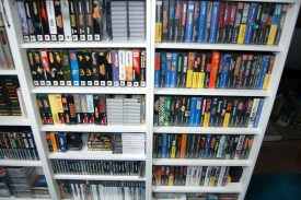 Even more games on shelves.