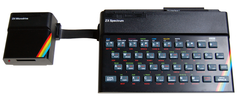 ZX Spectrum 48K with ZX Interface 1 and ZX Microdrive