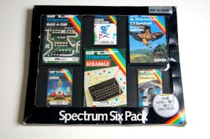Spectrum Six Pack as distributed with the original rubber keyed 48K ZX Spectrum
