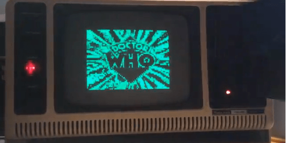 Streaming movies from floppy disk on a 31 year old TRS-80 Model 4p