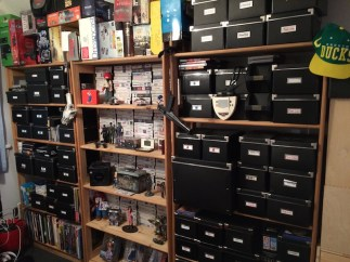 Full shelfie: every box is full of games