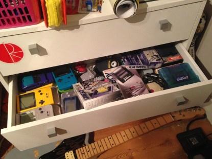 Gameboy drawer