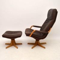 Danish Leather Swivel Chair. 1960 s danish vintage leather ...