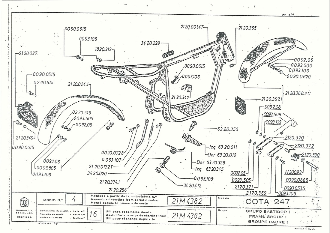 engine schematic for montesa cappra