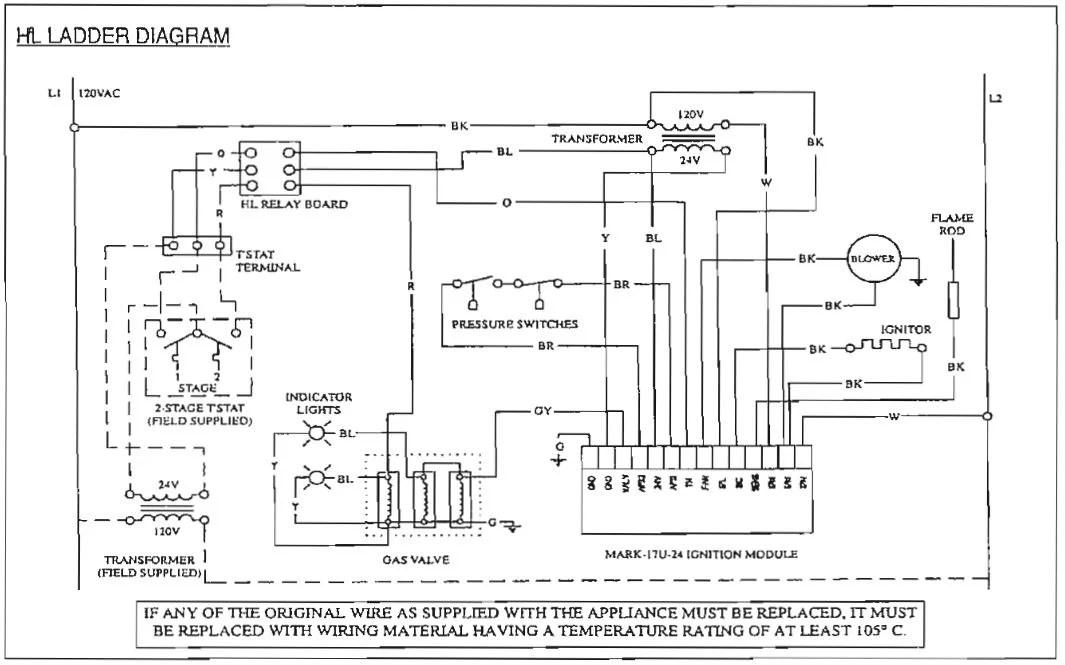 thermostat internal wiring diagram