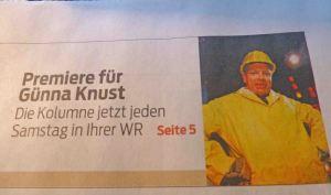 RN-Kolumnist Bruno Knust ist nun auch WR-Kolumnist.