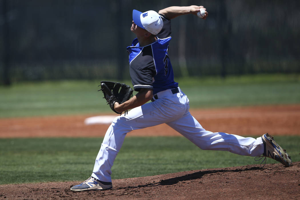 Sophomore Shane Spencer pitches Basic into 4A baseball title game