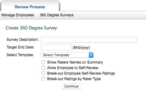 Create a 360 Survey - Reviewsnap - Performance Management Software