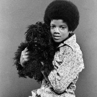 Michael Jackson With A Dog