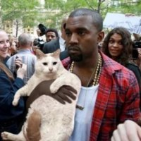 Kanye West With A Cat