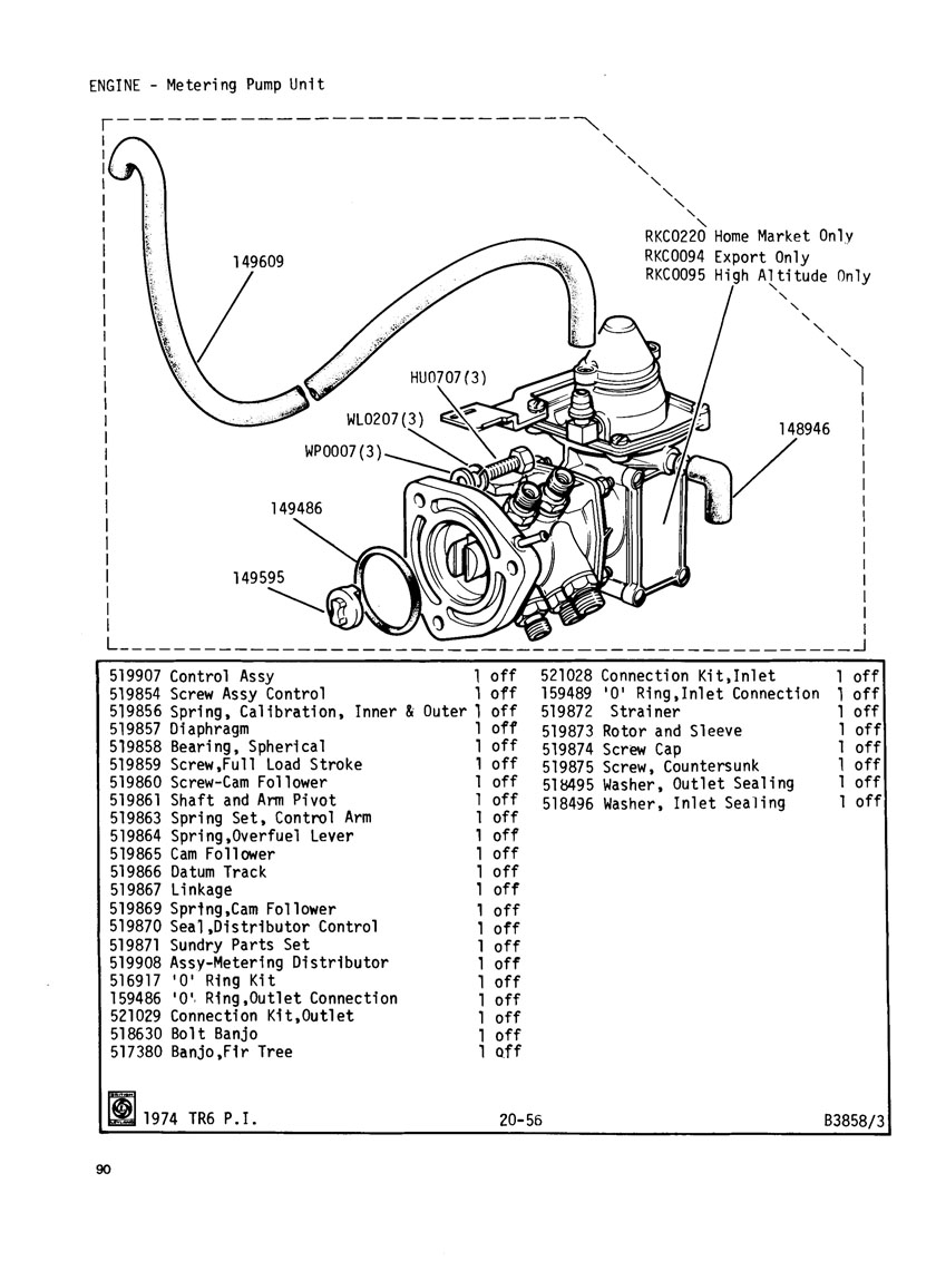tr6 engine internal diagram