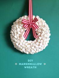 guirlanda de natal com marshmallow : Revista Artesanato