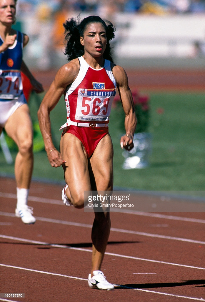 Florence Griffith Joyner Seul 88 (Getty Images)