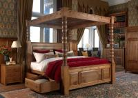 Solid Wood Four Poster Bed - The Ambassador 4 Poster ...