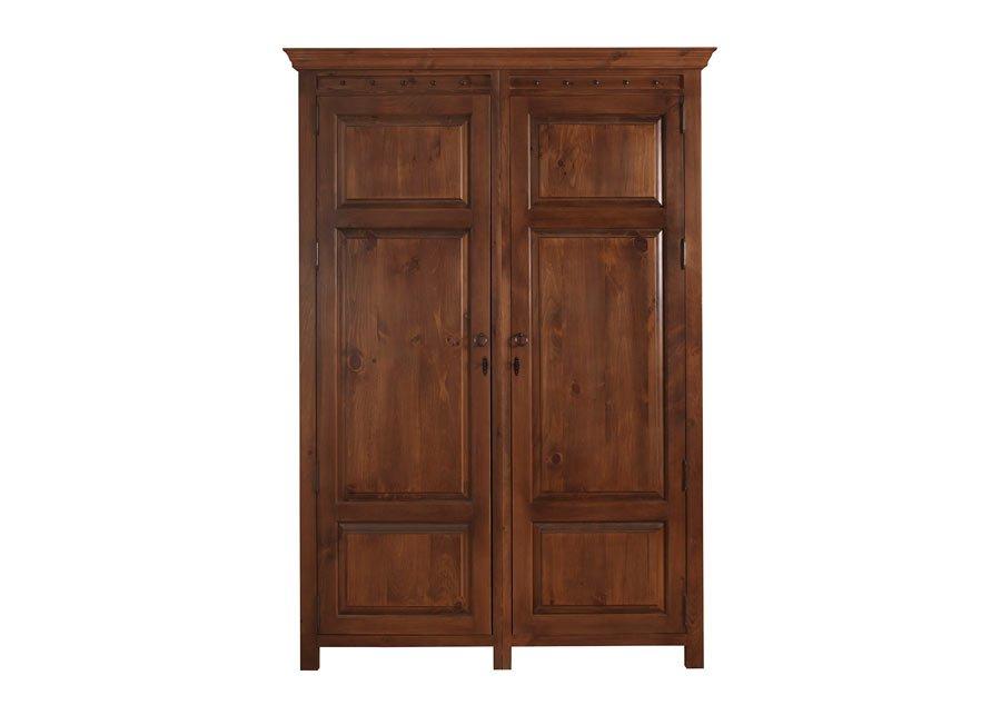 2 Door Wardrobe In Solid Wood Handmade In The Uk