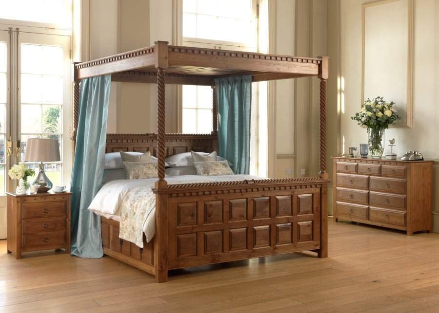 Four Poster Bed The County Kerry Handmade For Solid Wood