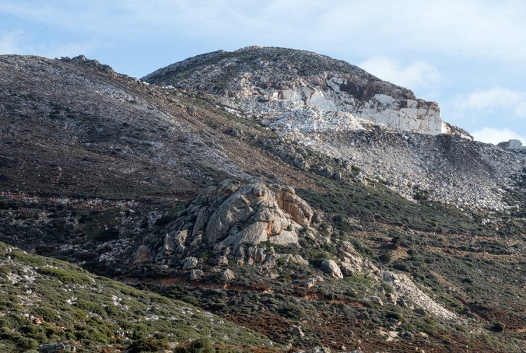Marble quarry on Naxos.