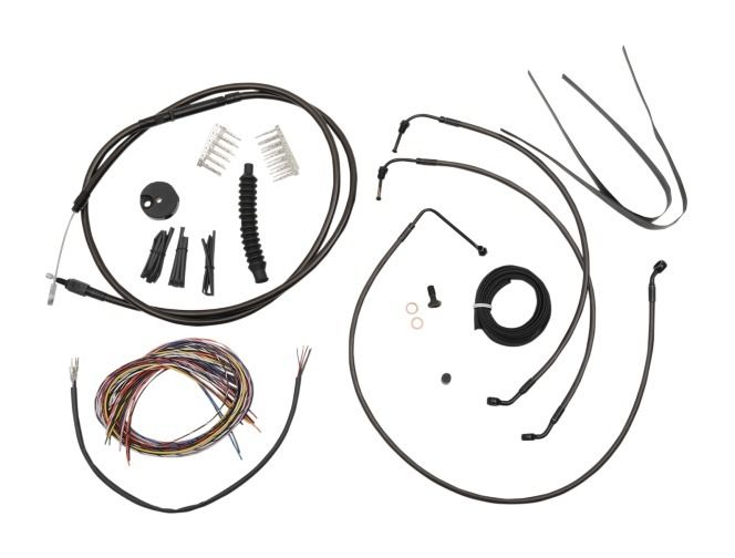 LA Choppers Handlebar Cable Brake Line And Wire Kit For Harley 10
