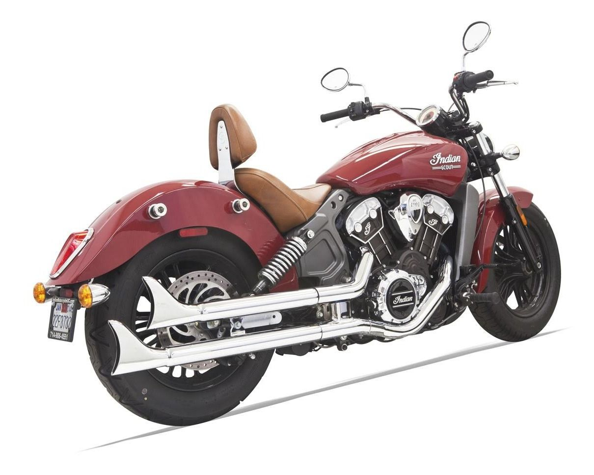 Bassani Fishtail Slip On Mufflers For Indian Scout 2015